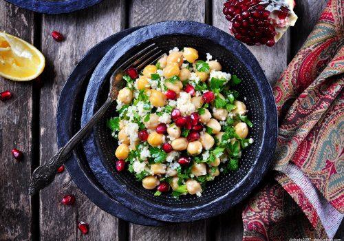 Couscous mit Kichererbsen und Granatapfel