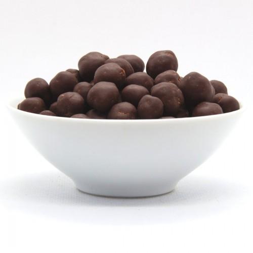Geröstete Kichererbsen mit Schokolade Snack