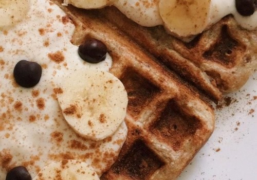 Vegane Waffeln mit Kichererbsen in dunkler Schokolade