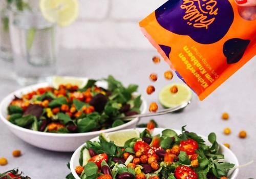 Geröstete Kichererbsen als Salattopping