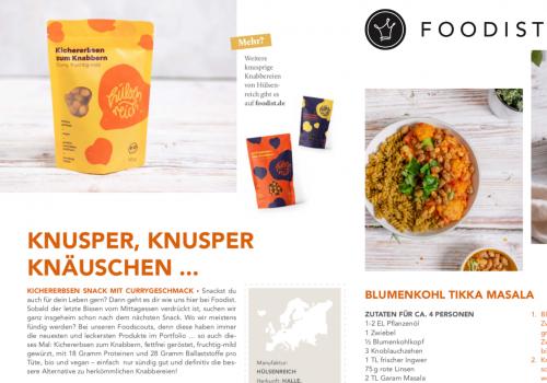 Hülsenreich bei Foodist: Knapp 2000 Abo-KundInnen knabbern Kichererbsen