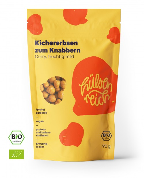 Hülsenreich Kichererbsen Snack - Curry